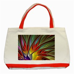 Fractal Bird Of Paradise Classic Tote Bag (red) by WolfepawFractals