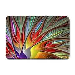 Fractal Bird Of Paradise Small Doormat