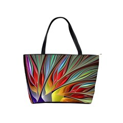 Fractal Bird Of Paradise Shoulder Handbags by WolfepawFractals