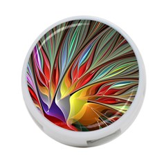 Fractal Bird Of Paradise 4 Port Usb Hub (two Sides)  by WolfepawFractals