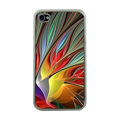 Fractal Bird Of Paradise Apple Iphone 4 Case (clear)