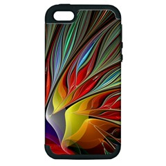 Fractal Bird Of Paradise Apple Iphone 5 Hardshell Case (pc+silicone) by WolfepawFractals