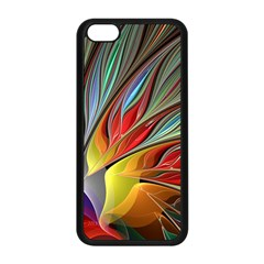 Fractal Bird Of Paradise Apple Iphone 5c Seamless Case (black) by WolfepawFractals
