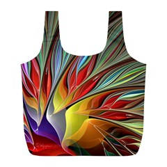 Fractal Bird Of Paradise Full Print Recycle Bags (l)  by WolfepawFractals