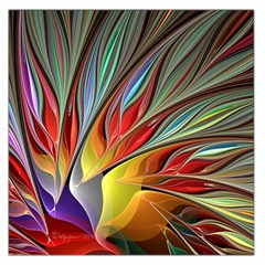 Fractal Bird Of Paradise Large Satin Scarf (square)