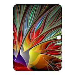 Fractal Bird Of Paradise Samsung Galaxy Tab 4 (10 1 ) Hardshell Case  by WolfepawFractals