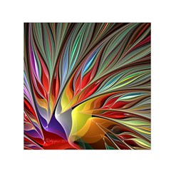 Fractal Bird Of Paradise Small Satin Scarf (square)