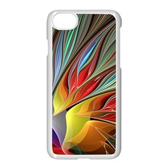 Fractal Bird Of Paradise Apple Iphone 7 Seamless Case (white) by WolfepawFractals