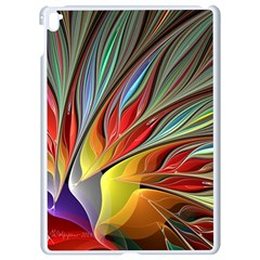 Fractal Bird Of Paradise Apple Ipad Pro 9 7   White Seamless Case by WolfepawFractals