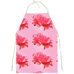 Pink Floral Pattern Full Print Aprons by paulaoliveiradesign
