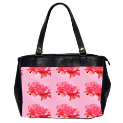 Pink Floral Pattern Office Handbags (2 Sides)  by paulaoliveiradesign