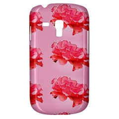 Pink Floral Pattern Galaxy S3 Mini by paulaoliveiradesign