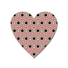 Black Stars Pattern Heart Magnet by linceazul