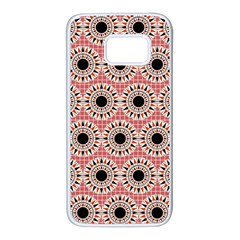 Black Stars Pattern Samsung Galaxy S7 White Seamless Case by linceazul