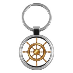 Boat Wheel Transparent Clip Art Key Chains (round)  by BangZart