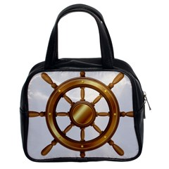 Boat Wheel Transparent Clip Art Classic Handbags (2 Sides) by BangZart