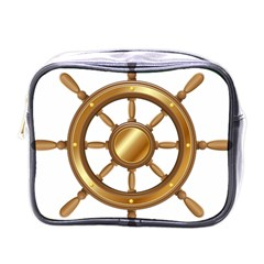 Boat Wheel Transparent Clip Art Mini Toiletries Bags by BangZart