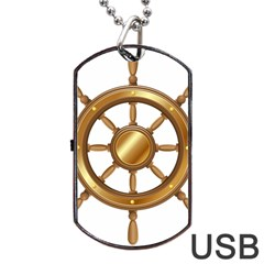 Boat Wheel Transparent Clip Art Dog Tag Usb Flash (one Side) by BangZart