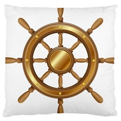Boat Wheel Transparent Clip Art Large Cushion Case (two Sides) by BangZart