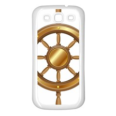 Boat Wheel Transparent Clip Art Samsung Galaxy S3 Back Case (white) by BangZart