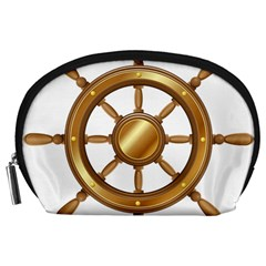 Boat Wheel Transparent Clip Art Accessory Pouches (large)  by BangZart