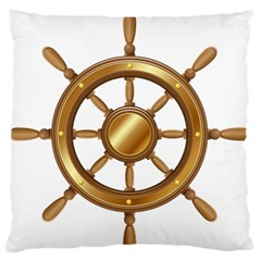 Boat Wheel Transparent Clip Art Standard Flano Cushion Case (one Side) by BangZart