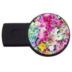Colorful Flowers Patterns Usb Flash Drive Round (2 Gb) by BangZart