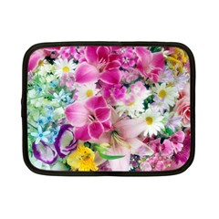 Colorful Flowers Patterns Netbook Case (small)  by BangZart