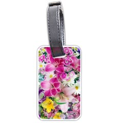 Colorful Flowers Patterns Luggage Tags (two Sides) by BangZart