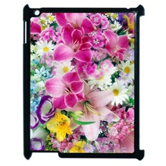 Colorful Flowers Patterns Apple Ipad 2 Case (black) by BangZart