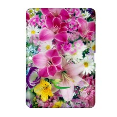 Colorful Flowers Patterns Samsung Galaxy Tab 2 (10 1 ) P5100 Hardshell Case