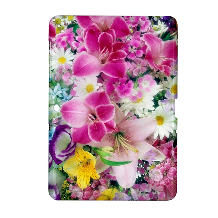 Colorful Flowers Patterns Samsung Galaxy Tab 2 (10.1 ) P5100 Hardshell Case