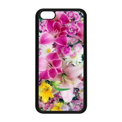 Colorful Flowers Patterns Apple Iphone 5c Seamless Case (black)