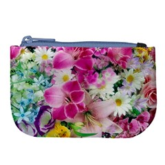Colorful Flowers Patterns Large Coin Purse by BangZart