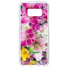 Colorful Flowers Patterns Samsung Galaxy S8 White Seamless Case