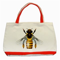 Bee Classic Tote Bag (red) by BangZart