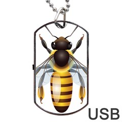 Bee Dog Tag Usb Flash (one Side) by BangZart