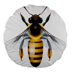 Bee Large 18  Premium Flano Round Cushions by BangZart
