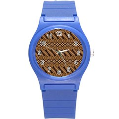 Batik The Traditional Fabric Round Plastic Sport Watch (s) by BangZart