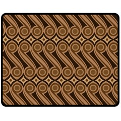 Batik The Traditional Fabric Double Sided Fleece Blanket (medium)  by BangZart