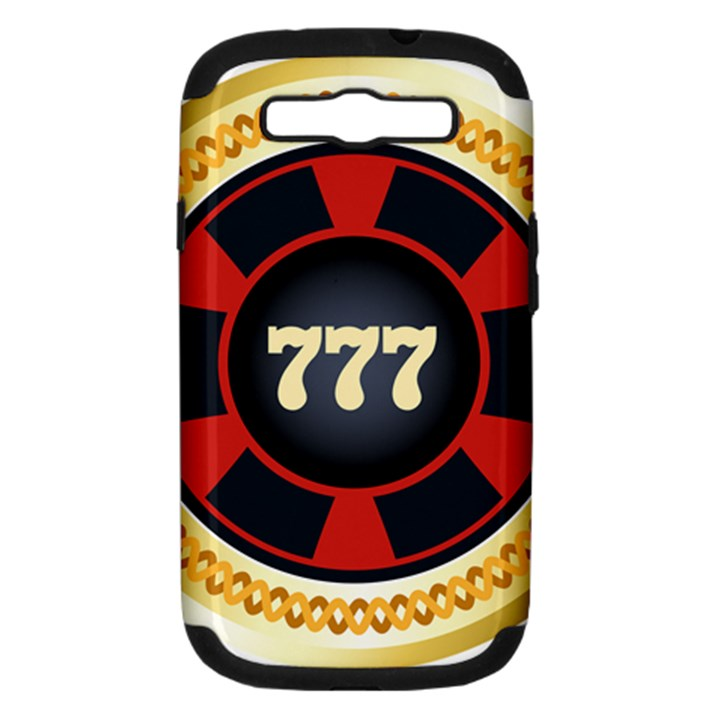 Casino Chip Clip Art Samsung Galaxy S III Hardshell Case (PC+Silicone)