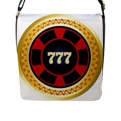 Casino Chip Clip Art Flap Messenger Bag (l)