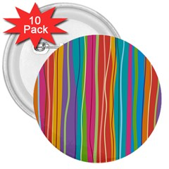 Colorful Striped Background 3  Buttons (10 Pack)  by TastefulDesigns