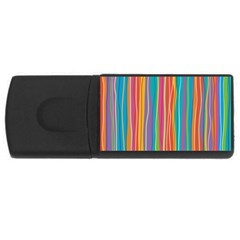 Colorful Striped Background Rectangular Usb Flash Drive by TastefulDesigns