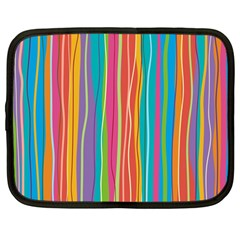 Colorful Striped Background Netbook Case (large)