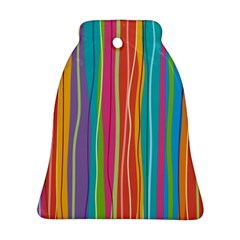 Colorful Striped Background Ornament (bell)