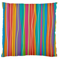Colorful Striped Background Standard Flano Cushion Case (one Side)
