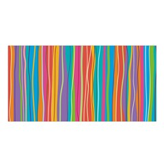 Colorful Striped Background Satin Shawl by TastefulDesigns