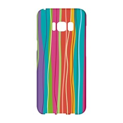 Colorful Striped Background Samsung Galaxy S8 Hardshell Case  by TastefulDesigns