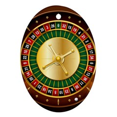 Casino Roulette Clipart Ornament (oval) by BangZart